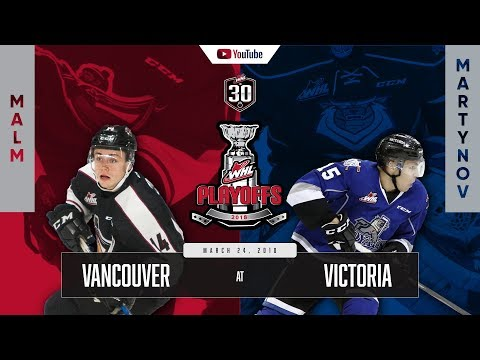 WHL IN 30 || Vancouver Giants vs Victoria Royals Round 1 Game 1 – March 23, 2018