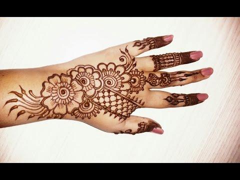 Beautiful simple mehndi designs for hands 2016-simple henna designs tutorials