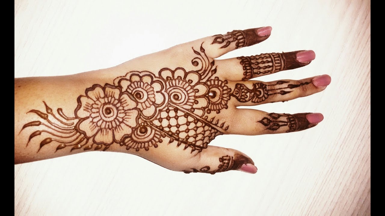 very pretty mehndi design easy and beautiful images front hand