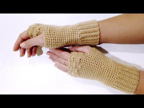 Видеоурок вязание крючком митенки