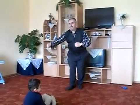 arab grandfather dancing to techno