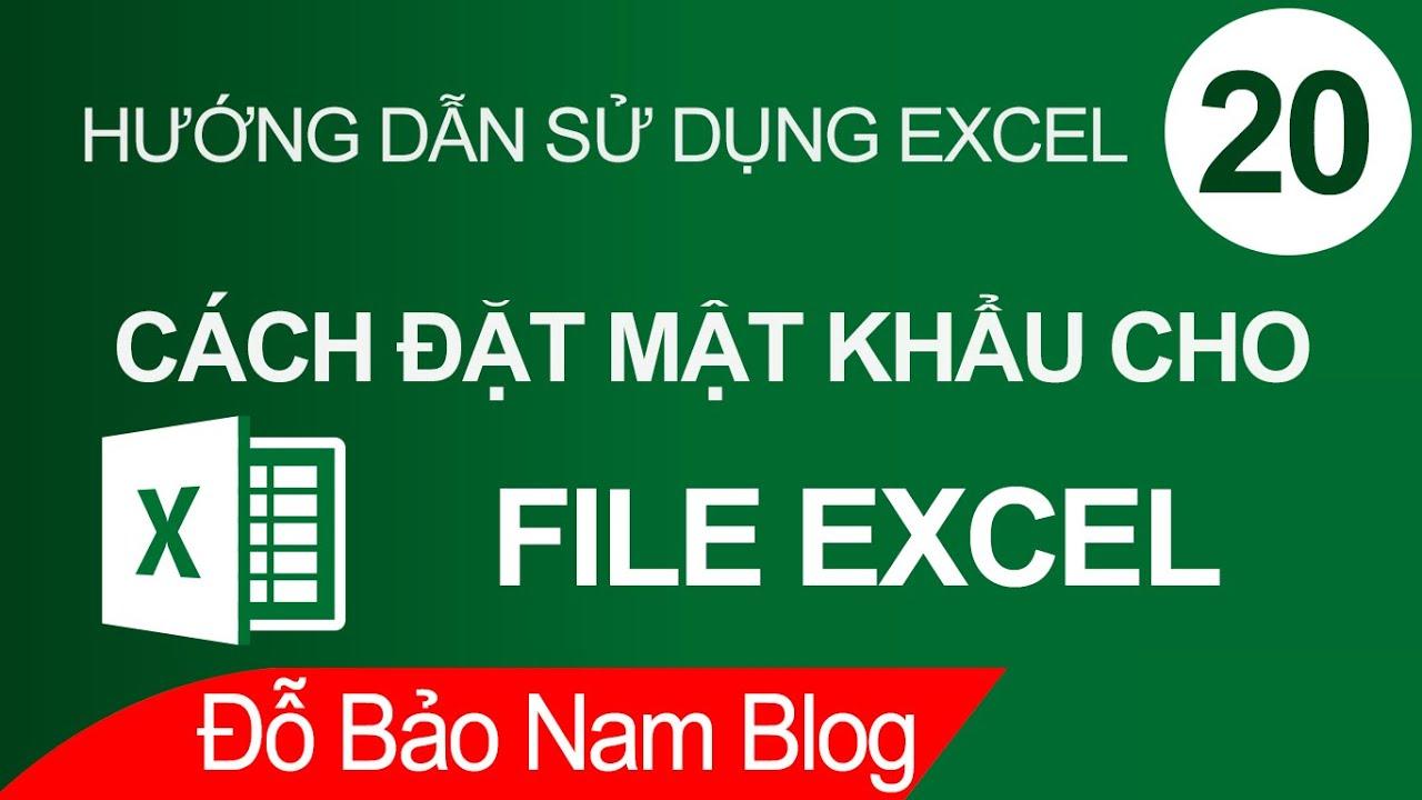 Cách đặt mật khẩu cho file Excel, cài password cho file Excel