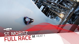 St. Moritz | BMW IBSF World Cup 2019/2020 - Men's Skeleton Heat 1 | IBSF Official