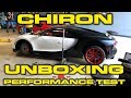 Bugatti Chiron Unboxing, Delivery, Revs, Wheel Change and Performance Testing!