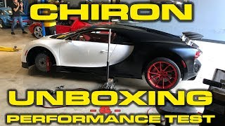 Top 10 Cars - Bugatti Chiron Unboxing, Delivery, Revs, Wheel Change and Performance Testing!