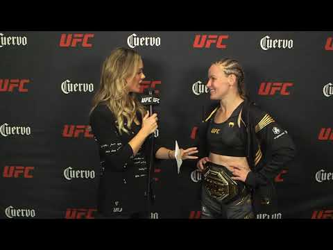 UFC 266 Quick Hits: Backstage With Valentina Shevchenko