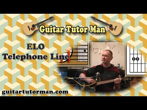 Telephone Line - ELO - Acoustic Guitar Lesson (detune 1 fret)