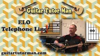 Telephone Line - ELO - Acoustic Guitar Lesson (detune 1 fret)