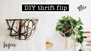 THRIFT FLIP: DIY Macrame Plant…