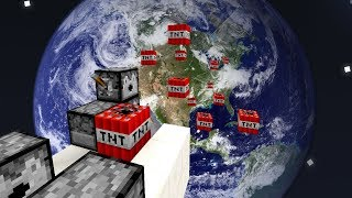 CANHÃO DE TNT VS. PLANETA TERRA! (MINECRAFT)