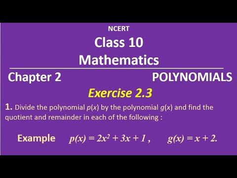 NCERT Class 10 Mathematics Ex 2.3 (1)  (Example) thumbnail
