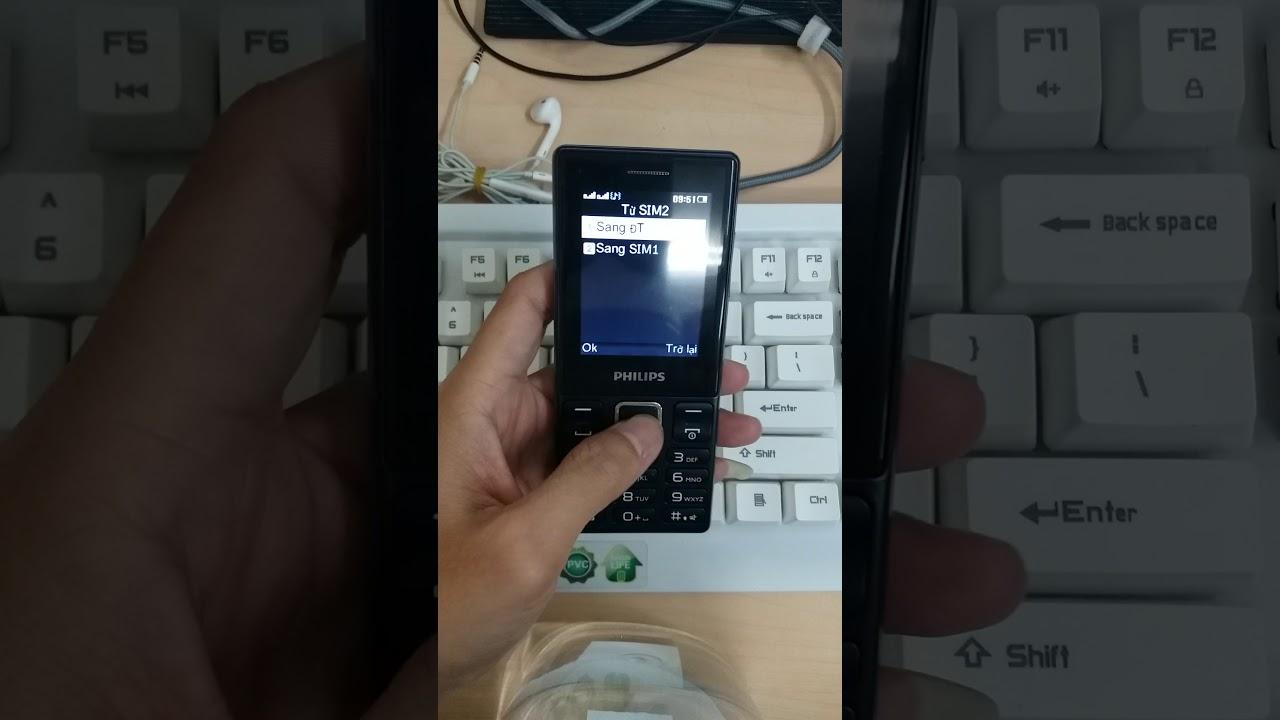 Chép danh bạn từ sim vào máy trên Philips E170
