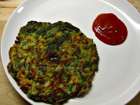 Palak Thalipeeth - Quick and healthy breakfast recipe   Maharashtrian recipes  Indian veg recipes