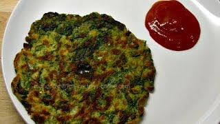 Palak Thalipeeth - Quick and healthy breakfast recipe | Maharashtrian recipes| Indian veg recipes