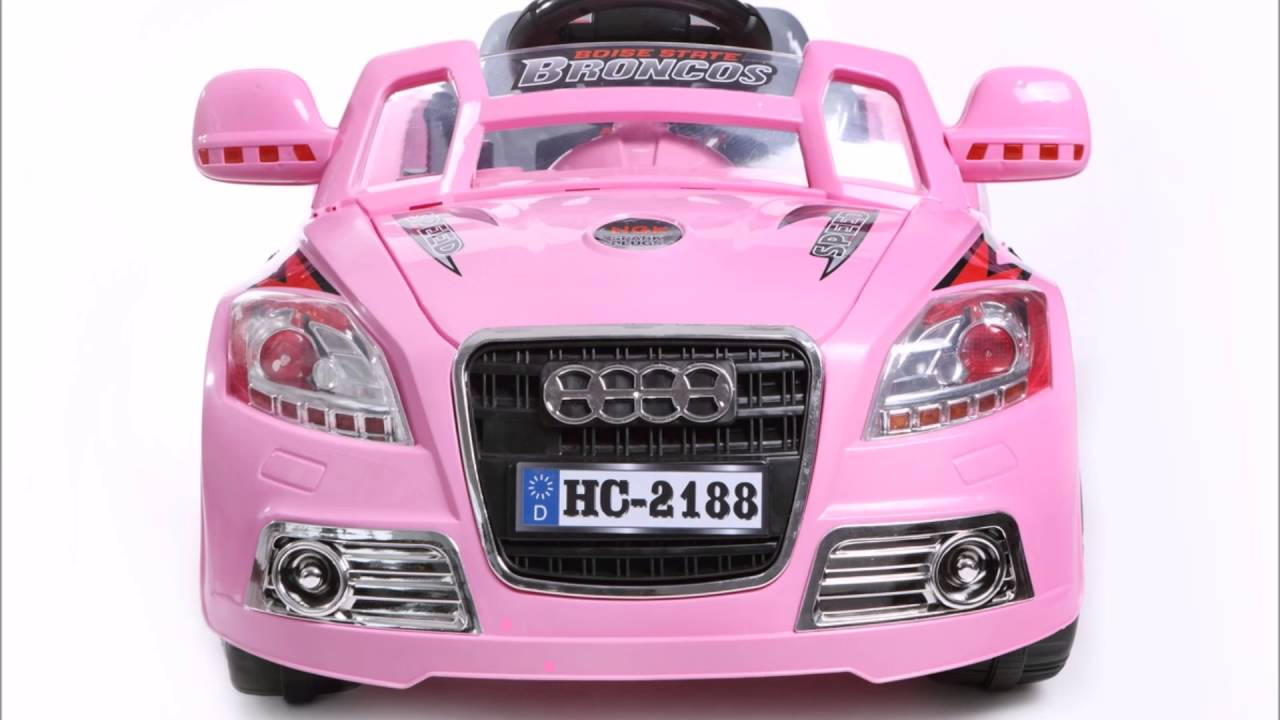 audi coup roadster 12v rose voiture lectrique pour enfants youtube. Black Bedroom Furniture Sets. Home Design Ideas