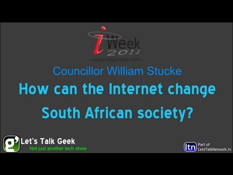 How can the Internet change South African society? - Councillor William Stucke