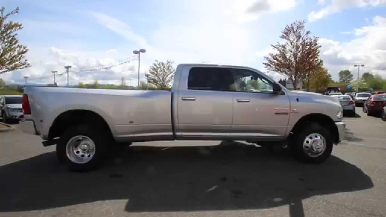Ram Big Horn >> 2014 Dodge Ram 3500 Big Horn DRW | Silver | EG198538 | Everett | Snohomish - YouTube