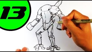 Enzyme Art - Drawing a Robot