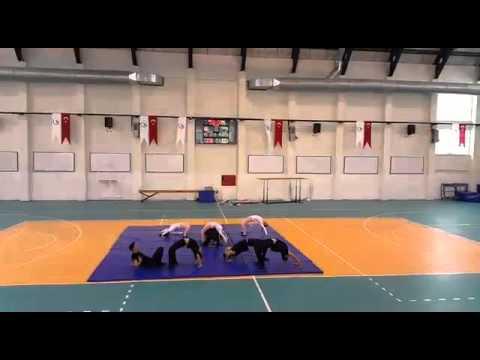 cimnastik kareografi  düzce üniversitesi  pembe panterler