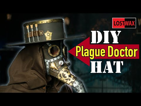 DIY Plague Doctor Hat / How to Make a Plague Doctor Costume Tutorial and Template