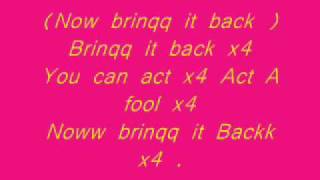 Brinq It Back Travis Porter Lyrics