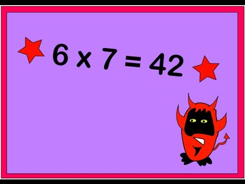 Adam Up Maths - 7 Times Table Chant - YouTube