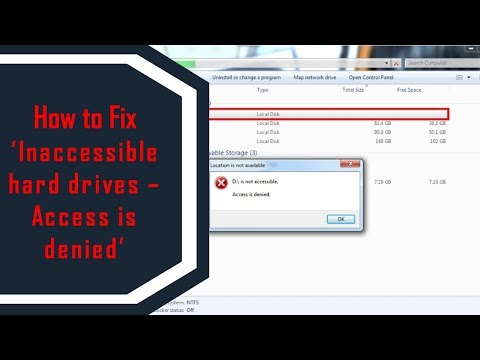 Solved] 'Hard Drive is not accessible  Access is denied