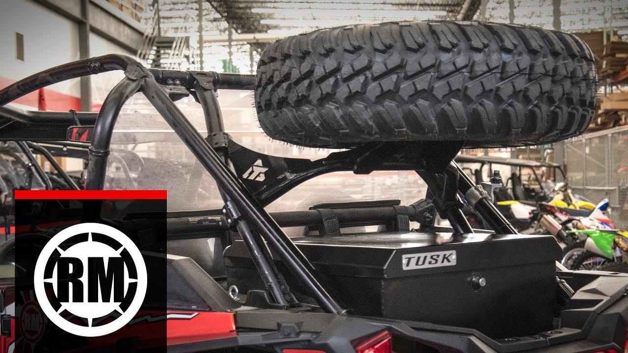 tusk utv spare tire carrier polaris rzr xp turbo s