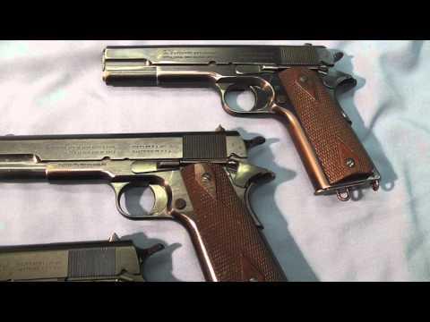 Colt's Model 1911 Pistol .45 ACP U.S. Ordnance Inspection Marks And Colt Trademarks