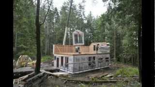 set up prefab house on Bowen Island www.a-z-carpentry.ca Vancouver Canada