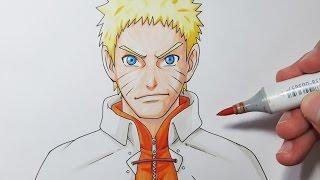 How To Draw Naruto HOKAGE - Step by Step Tutorial