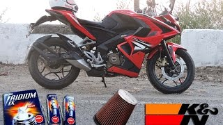 Pulsar 200rs modifications | NGK IRIDIUM PLUG | K&N FILLTER