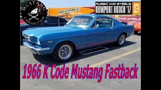 Immaculate K code 1966 Mustang GT Fastback 289 Hipo Russo and Steele 2017 Mustang Connection