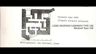 WESTWALL LIGNE SIEGFRIED CASEMATE TYPE 108