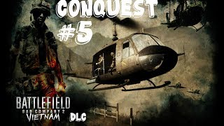 Battlefield Bad Company 2 - Vietnam DLC Multiplayer - Conquest #5 Gameplay PC/HD [1080p]
