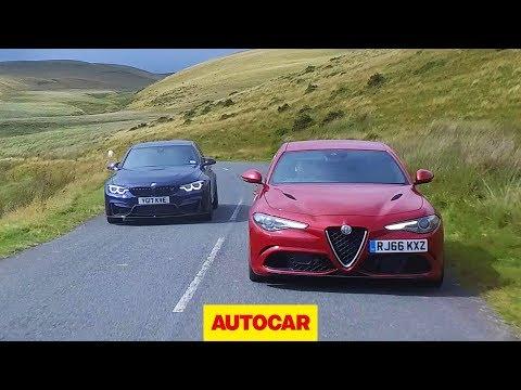Alfa Romeo Giulia Quadrifoglio vs 2018 BMW M3 Competition Pack | Super saloon review | Autocar
