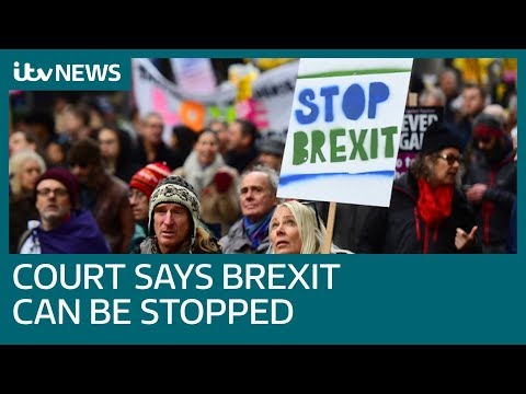 UK can unilaterally halt Brexit, European Court rules | ITV News