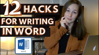 12 Tools for Writing a Novel in WORD | NaNoWriMo Tips | 12 Microsoft Word Features You Need to Know!