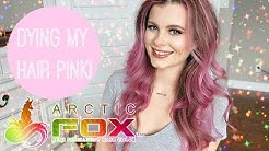 Dying my hair PINK using Arctic Fox hair dye video!