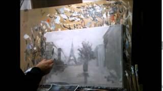 А.Семенов Видеоурок Париж Картина холст масло