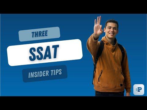 Three SSAT Insider Tips