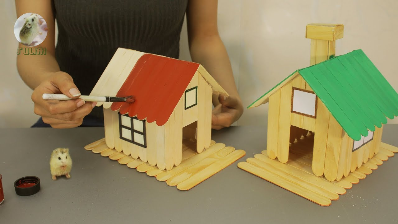 How to Make Popsicle Stick House for 🐹Hamsters🐹 Home Design & DIY Project