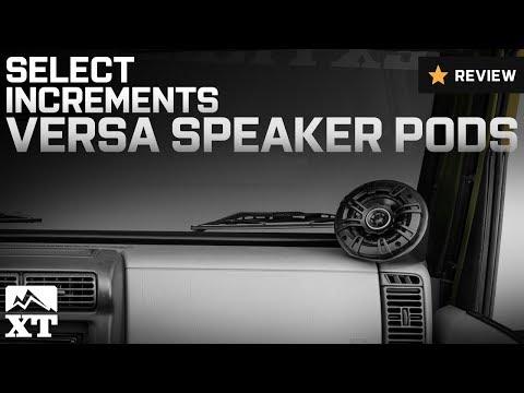 Jeep Wrangler Select Increments Versa Speaker Pods (1987-2017 YJ, TJ, JK) Review