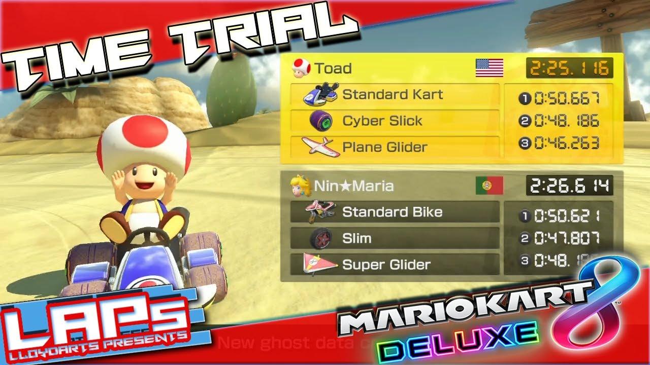 Mario Kart 8 Deluxe Staff Ghost Race Gcn Dry Dry Desert 150cc
