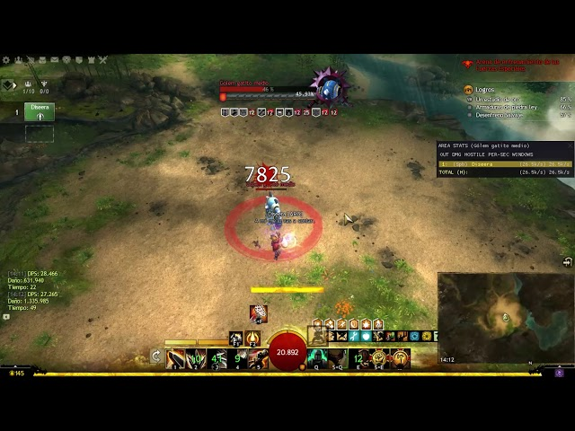 Guild Wars 2 - PvE Spellbreaker Rotation Practice