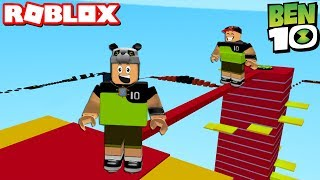 Be 10 and Finish the Course! Super Heroes Track - Roblox Ben 10 Ultimate Obby with Panda