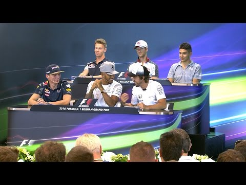 Drivers Face The Press | Belgian Grand Prix 2016