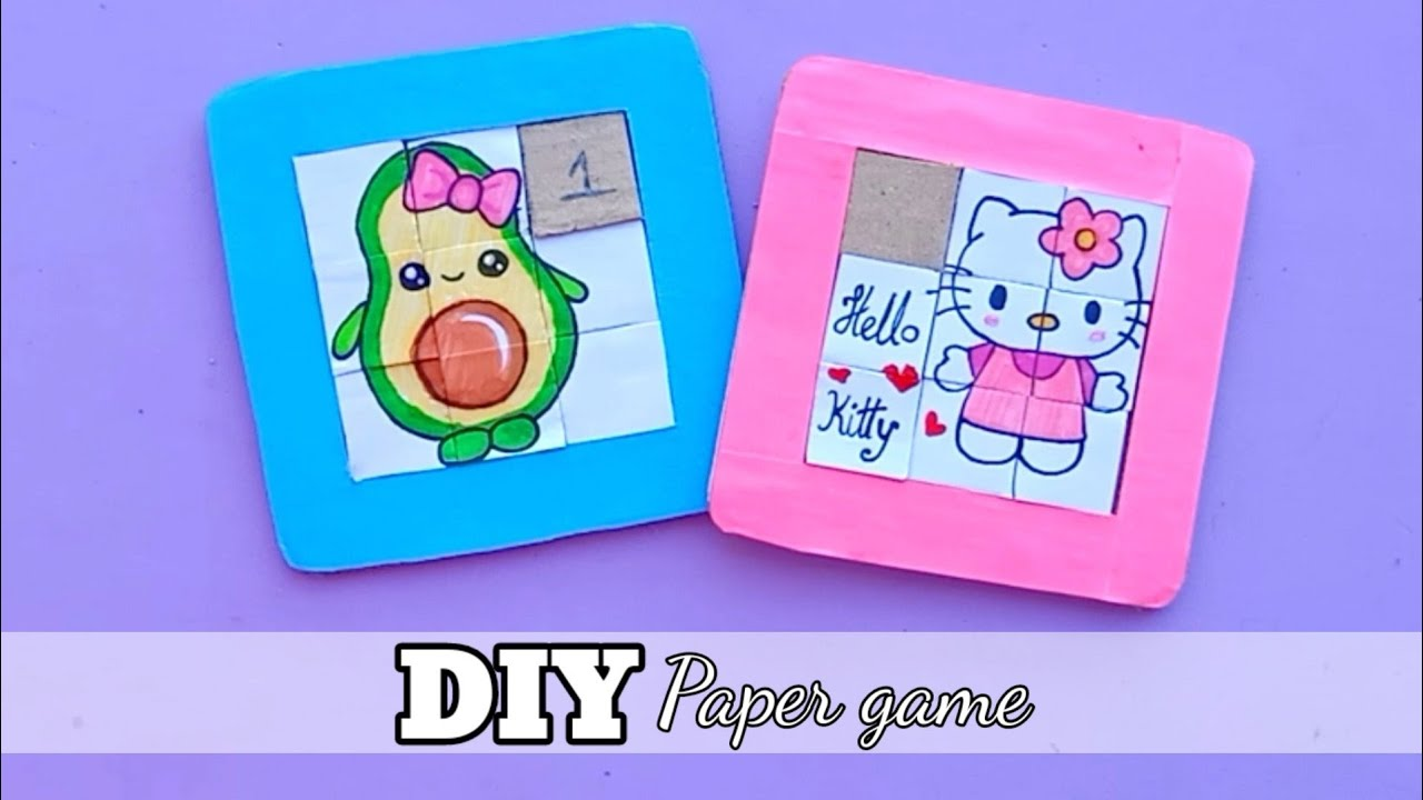 How to make a puzzle game from card board /paper puzzle game project /paper game project/Craft video