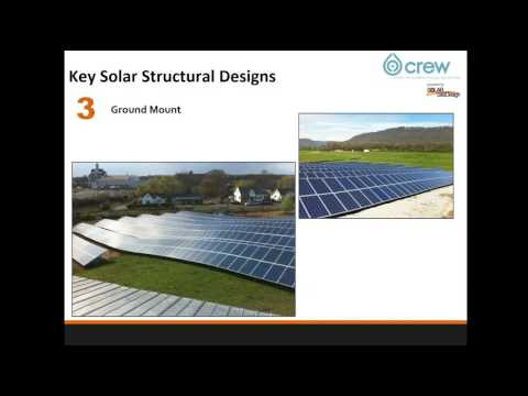 CREW Commercial Solar Training   Module 2 Lesson 3   Solar Design Options