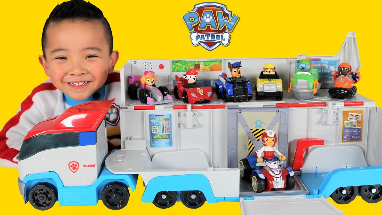 Paw patrol patroller toys unboxing with marshall chase skye rocky